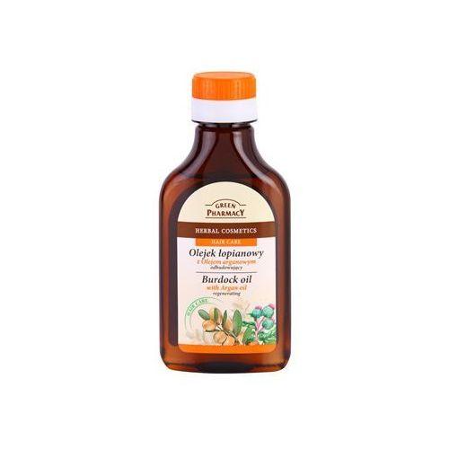hair care argan oil olejek łopianowy do włosów o działaniu regenerującym 100 ml marki Green pharmacy