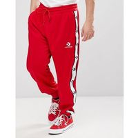 Converse star chevron track joggers in red 10007592-a03 - red