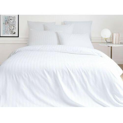 Pościel satynowa ABILY - poszwa na kołdrę 220 x 240 cm + 2 poszewki na poduszkę 63 x 63 cm - biała