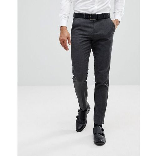 tapered smart trousers in dark grey - grey marki Burton menswear
