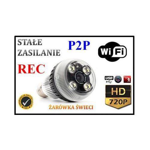 Kamera hd wifi/p2p ukryta w żarówce (zasięg cały świat!) + zapis + przedłużka... marki Spy