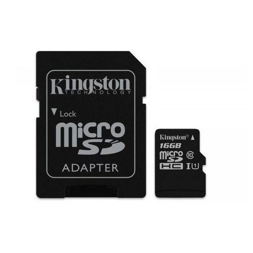 KINGSTON microSD 16GB Class10 Canvas Select 80/10 MB/s + adapter SD (SDCS/16GB) >> KUP W NEO24.PL I ZYSKAJ 20% NA DRUGI TAŃSZY PRODUKT