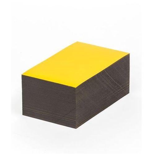 Magnetyczna tablica magazynowa, żółte, wys. x szer. 80x100 mm, opak. 100 szt. Za