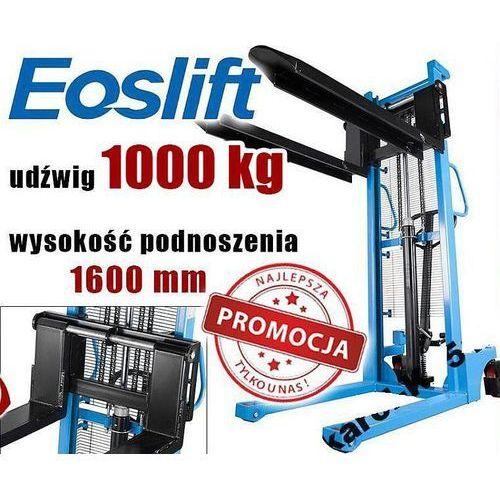Wózek paletowy paleciak widłowy masztowy podnośnikowy eoslift hsa1016 1t 1000kg rozsuwane widły germany marki Maktek