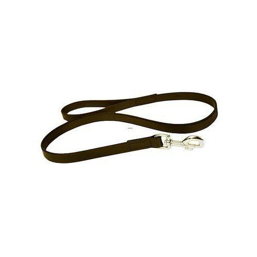 Dingo  smycz pojedyncza skórzana natłuszczana szyta 2,0x120cm brązowa (5904760112964)