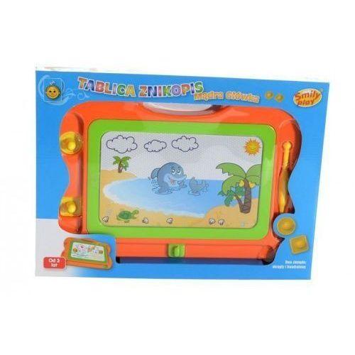 Tablica znikopis Mądra Główka pomarańczowo-zielona z kategorii Pozostałe zabawki