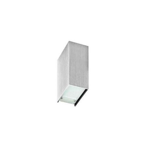 Kinkiet lampa ścienna raul gm1107 alu metalowa oprawa prostokątna aluminium marki Azzardo