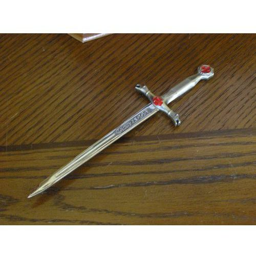 Nożyk do listów złoty miecz templariuszy (1289) marki Płatnerze hiszpańscy