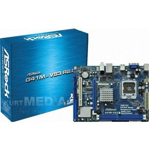 Płyta główna ASRock G41M-VS3, G41 ICH7, DualDDR3-1333, SATA2, VGA, LAN, mATX (G41M-VS3 R 2.0) Darmowy odbiór w 19 miastach! z kategorii Płyty główne