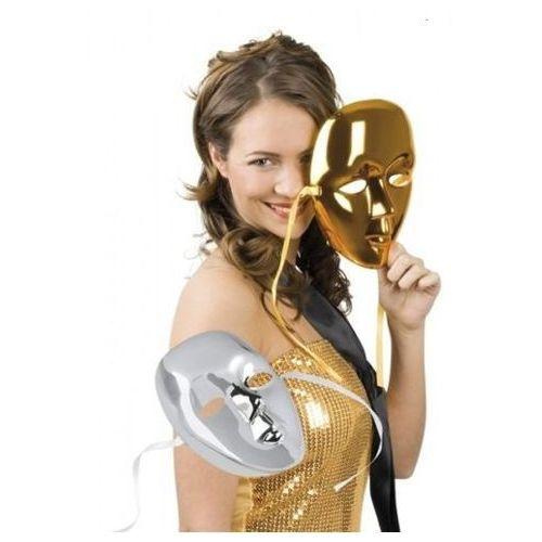 Aster Maska metalik twarz - złota lub srebrna
