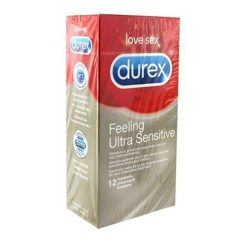 Prezerwatywy super cienkie -  feeling ultra sensitive condoms 12 szt wyprodukowany przez Durex