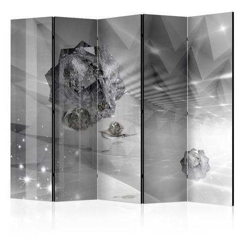 Parawan 5-częściowy - abstrakcyjna szarość ii [room dividers] marki Artgeist