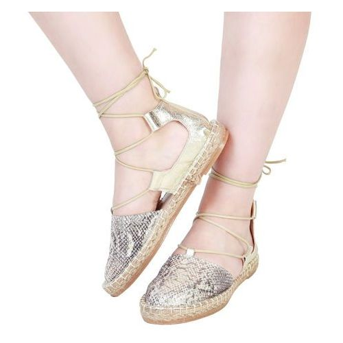 Płaskie buty damskie ANA LUBLIN - RAISSA-54, RAISSA_ORO-36