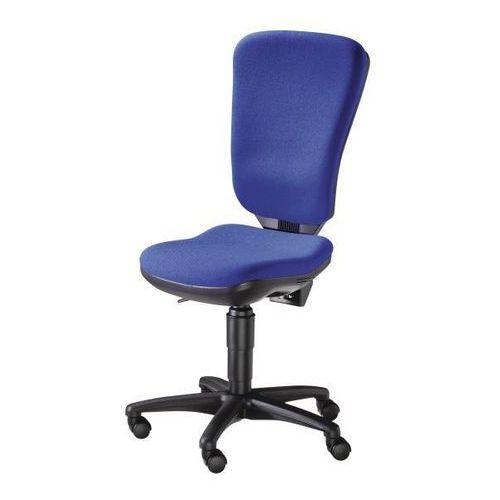Obrotowe krzesło biurowe, mechanizm stałego kontaktu i wysokie oparcie, siedzisk