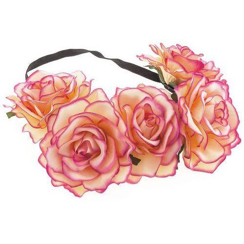 Iloko Opaska wianek ogromne kwiaty różowo-kremowe - różowo-kremowe