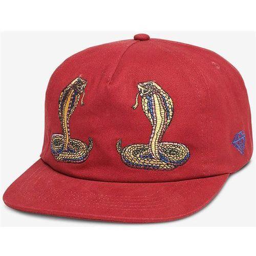 Diamond Czapka z daszkiem - cobra unstructured strapback red (red)