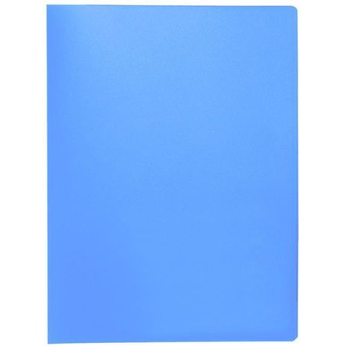 Teczka ofertowa , pp, a4, 380mikr., 20 koszulek, transparentna niebieska marki Q-connect