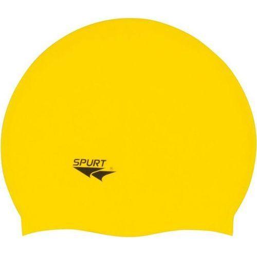 Spurt Czepek silikonowy f201 jednokolorowy żółty (5907695550368)