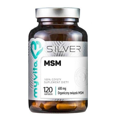 Kapsułki MSM Organiczny związek MSM 600mg 120 kapsułek MyVita Silver Pure