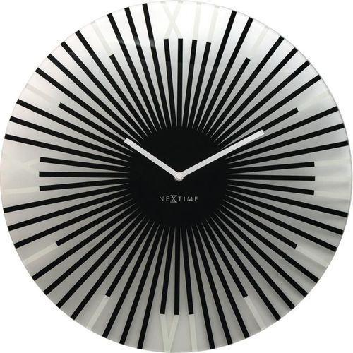 Nextime - zegar ścienny sticks - czarny