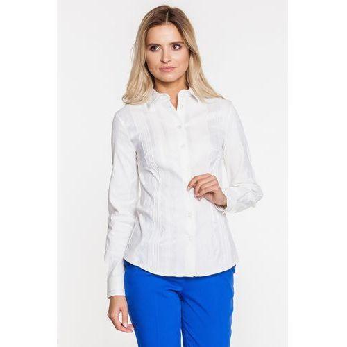 Koszula biała w srebrne paseczki - Duet Woman, 1 rozmiar