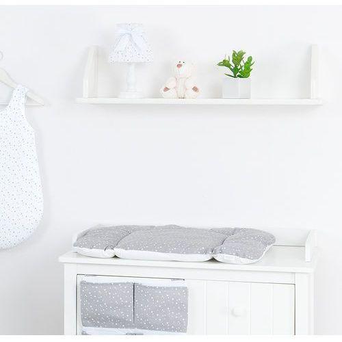 Mamo-tato przewijak na komodę mini gwiazdki białe na szarym
