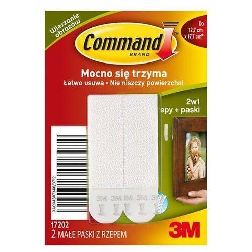 Rzepy Command 17202 PL do wieszania obrazów małe 2 szt. białe