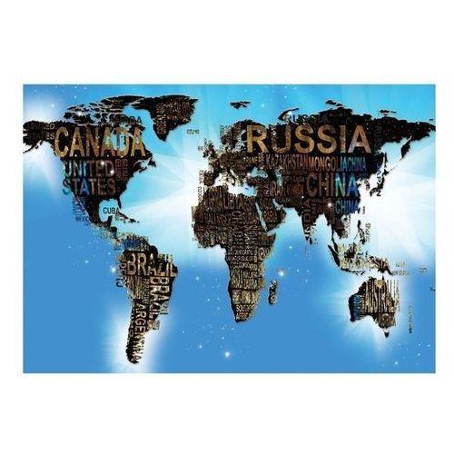 Fototapeta - mapa świata - niebieskie natchnienie marki Artgeist