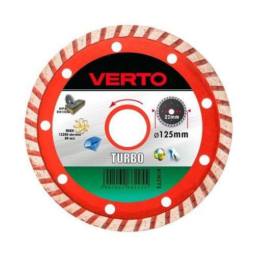 Tarcza do cięcia VERTO 61H2T5 125 x 22.2 diamentowa turbo, 61H2T5