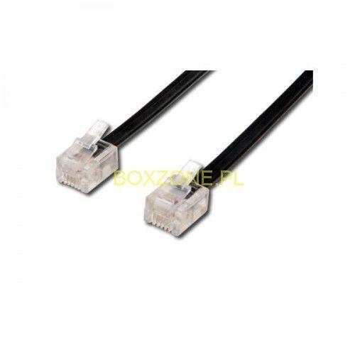 Kabel telefoniczny 4-żyłowy, RJ11 M-15m, czarny, economy, do ADSL modem, KVTD150641 (6492029)