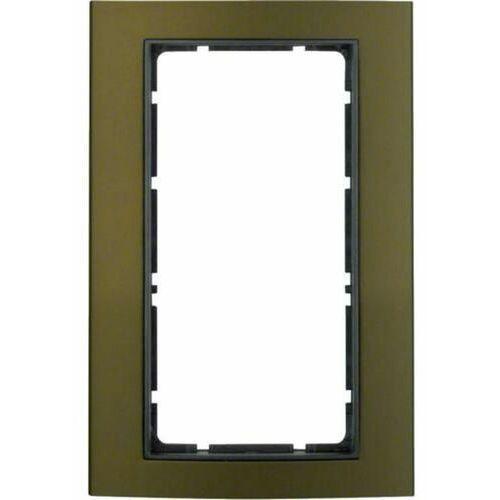 b.3 ramka z dużym wycięciem, alu, brązowy/antracyt 13093001 marki Berker
