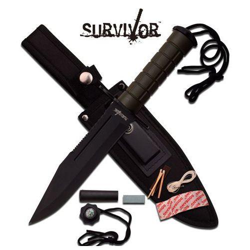Nóż wojskowy taktyczny survivalowy ostrze stałe 30cm - hk-786gn marki Usa