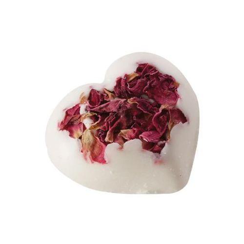 różane serce | kremowa kuleczka do kąpieli marki Bomb cosmetics