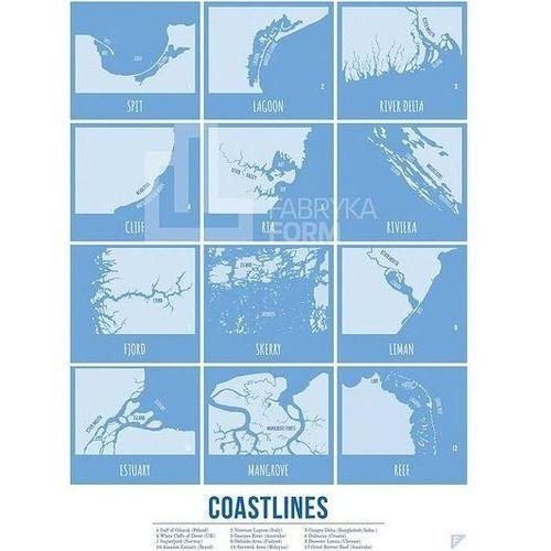 Plakat Coastlines 30 x 40 cm, coaen3040