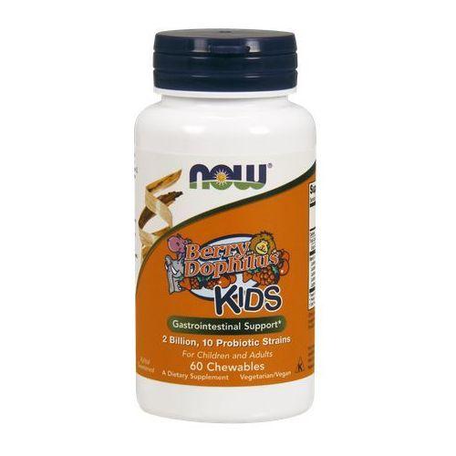Now Foods Berry Dophilus 10 szczepów 2 miliony CFU 60 tabletek do ssania - tabletki pozostałe leki i suplementy