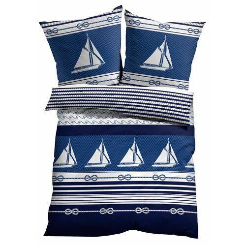 Bonprix Pościel w marynarskie motywy ciemnoniebieski