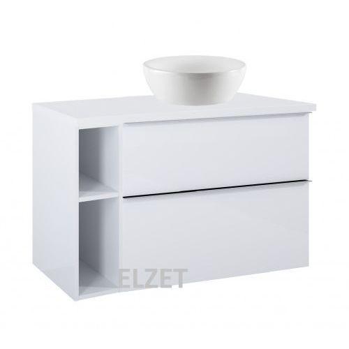 ELITA szafka Look 2S white pod umywalkę nablatową + moduł otwarty + blat 100 white 167081+167101+166894, kolor biały