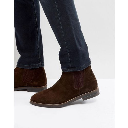 Silver street chelsea boots in brown suede - brown