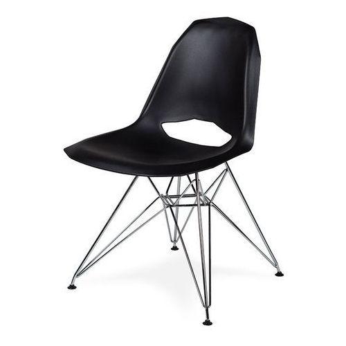 King home Czarne krzesło z tworzywa do nowoczesnych jadalni gular