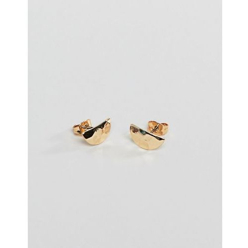 Pieces textured stud earrings - gold