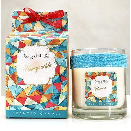 sojowa świeca zapachowa w szklanym słoju honeysuckle 200g marki Song of india