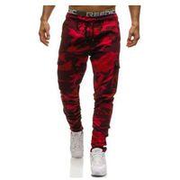 Spodnie bojówki męskie moro-czerwone Denley 0857, kolor czerwony