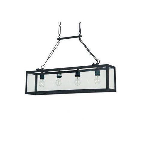 Lampa wisząca IGOR SP4 NERO, kolor Transparentny,