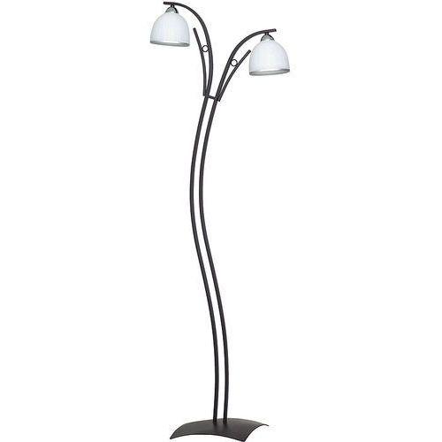 Lampa podłogowa stojąca oprawa Luminex Avia 2x60W E27 biały/venge/chrom 3866 (5907565938661)