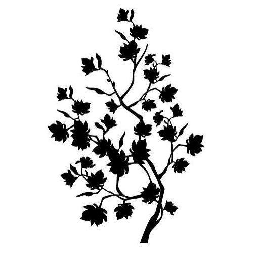 Szabloneria Naklejka dekoracyjna flora 168 - kwitnąca gałąź
