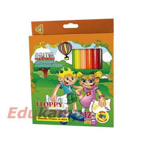 Noster Kredki świecowe 12 kolorów floppy (5907078124377)