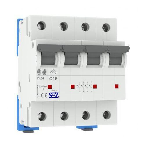 C16A 4P 10kA Wyłącznik nadprądowy bezpiecznik 3P+N Typ S eska PR64 SEZ 1910 (8585009001910)