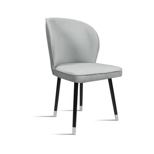 B&d Krzesło rino jasny szary/ noga czarny silver/ ja81