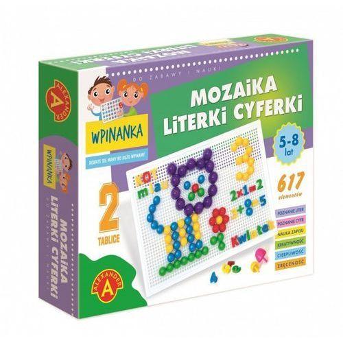 Wpinanka-mozaika literki i cyferki marki Alexander