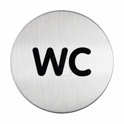 Oznaczenie toalet metalowe okrągłe - WC, G4907